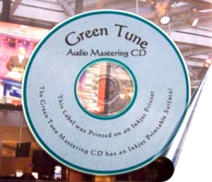 Green Tune CD Printable Surface View